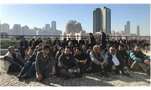 Kadroya alınmayan taşeron işçiler Ataşehir Belediyesi önünde oturma eylemine başladı