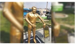 'Künefeci adam' heykelinin tepsisi çalındı