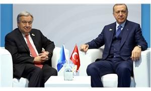 Erdoğan, Guterres ile telefonda görüştü