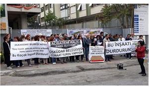 Acıbademliler yargı kararına rağmen durmayan tarikat yurdu inşaatına karşı toplanıyor