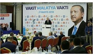 AKP ve Erdoğan logolu yemeği TESK başkanı organize etmiş