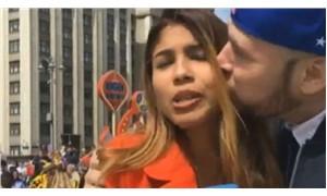 Dünya Kupası yayını yapan muhabir canlı yayında tacize uğradı
