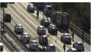 İstanbul TEM otoyolunda trafik kazası