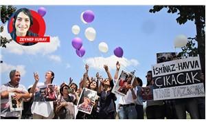 Tutsak gazetecilerin özgürlüğü için balon uçuruldu