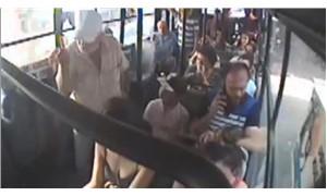 Gerici şahıs, otobüste mini etekli kadını hedef gösterdi