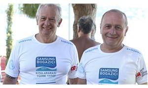 İki kıtadan iki başkan çocukların geleceği için yüzüyor