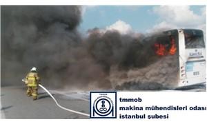 MMO İstanbul Şube: Artan otobüs yangınlarının nedeni denetimsizliktir
