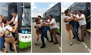 Halk otobüsü şoförü, sürücü eğitmeni kadına saldırdı