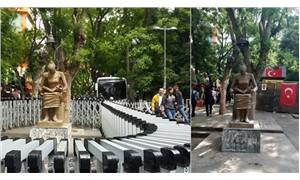 Gözaltındaki İnsan Hakları Anıtı 'serbest bırakıldı'