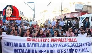 Kirazlıtepe halkı, belediyenin yıkım ekiplerine izin vermedi