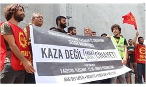 Sendikalardan iş cinayeti sonucu yaşamını yitiren Dilek Kayar için eylem