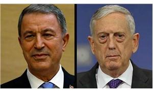 Hulusi Akar, ABD Savunma Bakanı Mattis ile telefonla görüştü