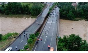 Ordu'da sel felaketi: 4 köprü çöktü, 165 kişi mahsur kaldı