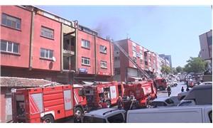 Zeytinburnu'nda bir sanayi sitesinde yangın çıktı
