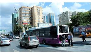Beşiktaş'ta seyir halindeki otobüste yangın