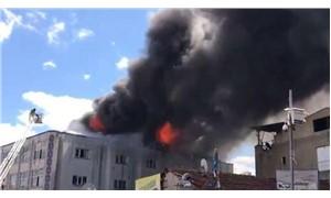 Okmeydanı'nda tekstil atölyesinde yangın