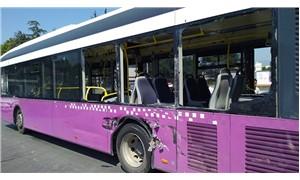 Beton mikseri, halk otobüsüne çarptı