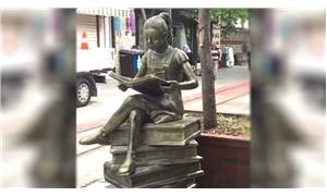 Bursa'da Kitap Okuyan Kız heykeli kaldırıldı