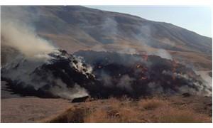 Çorum'da yangın: 4 bin balya saman küle döndü