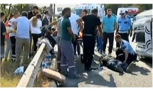 Etiler'de minibüs kaza yaptı: 2'si ağır 8 yaralı