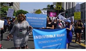ABD Başkanı Trump,  'Kadın Eşitliği Günü'nde protesto edildi