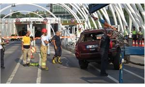 Avrasya Tüneli girişinde trafik kazası
