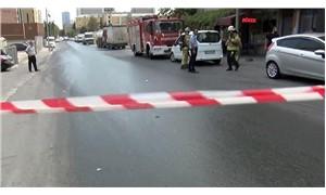 Halkalı'da yola kimyasal madde döküldü