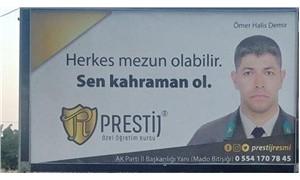 Halisdemir'in ailesinden reklam panosuna tepki