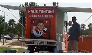 Halisdemir fotoğrafıyla satış yapan tantuni tezgahına el konuldu