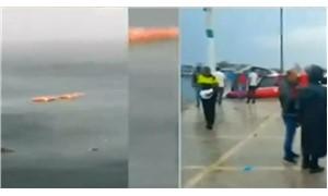 Bostancı açıklarında helikopter düştü