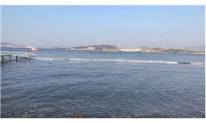 Foça'da denizi kirleten gemiye el konuldu