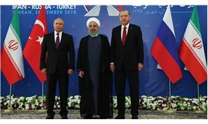 Putin, Erdoğan ve Ruhani üçlü zirvede bir araya geldi