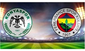 Konyaspor-Fenerbahçe maçının ilk 11'leri belli oldu