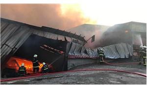 Maraş'ta fabrika yangını