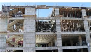 Elazığ'da inşaat çöktü: 2 yaralı