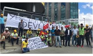 Aylardır ücretlerini alamayan Yeşil Kundura işçilerinden eylem