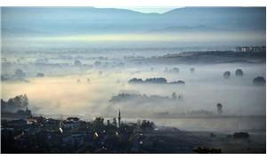 Bursa'da sis manzarası
