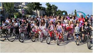 Ordu'da kadınlar rengarenk bisikletlerle pedalladı