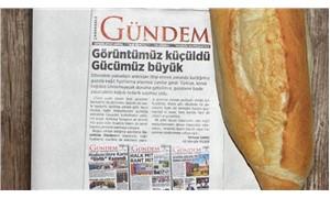 Yerel gazeteden kağıt zammına tepki