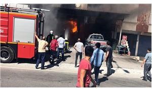Zonguldak'ta oto tamirhanesinde yangın