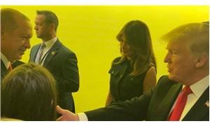 Erdoğan, kuliste Trump ile görüştü