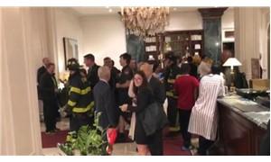 ABD'de Türk gazetecilerin kaldığı otelde yangın çıktı
