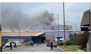 Tuzla'da fabrika yangını çıktı
