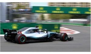 Japonya'da pole pozisyonu Hamilton'ın