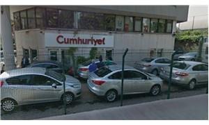 Cumhuriyet Gazetesi binası önünde 'şüpheli' kurşun