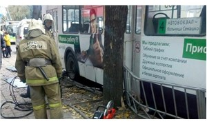 Moskova'da otobüs yayaları ezdi
