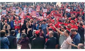 Belediye işçilerinden kriz protestosu