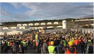 Yüzlerce sendikacı havalimanı işçileri için tek ses: Haklı mücadeleleri mücadelemizdir!