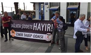 Karşıyaka'da İzmir tabip odası çağrısıyla sessiz eylem