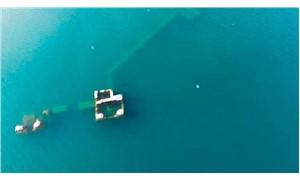 Hazar Gölü'ndeki 'Batık Şehir', suyun çekilmesiyle ortaya çıktı